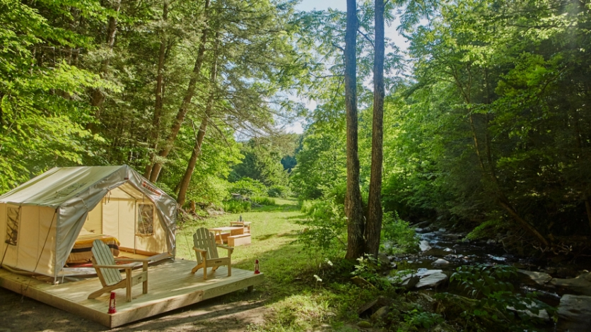 Tentrr offers campsite hosting, tents included