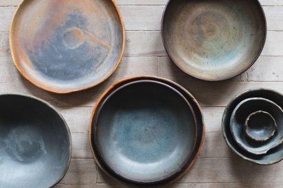 Hand-thrown pottery made by Connor McGinn