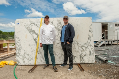 Chef Shawn Burnette (left) and Jesse Camac (right) of Heritage Food and Drink